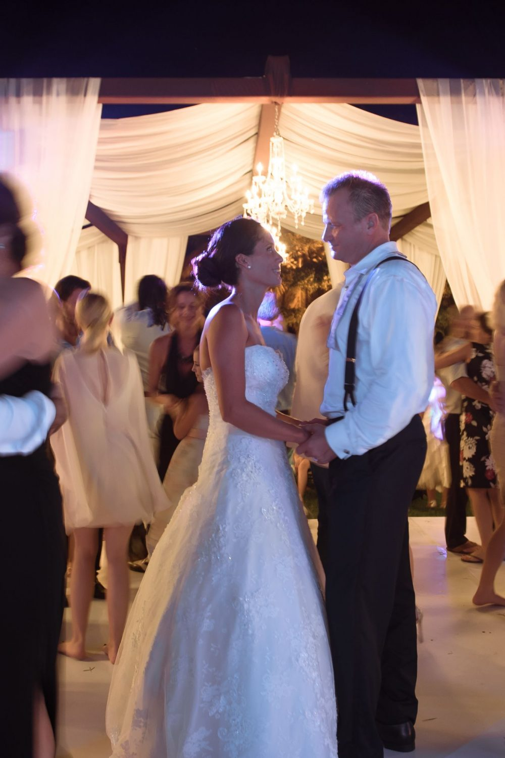 the bride and groom on the dance floor at this cultural Puerto Vallarta Mexico destination wedding