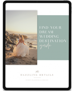 Find your Dream Wedding Destination Guide from The Dazzling Details on Ipad Pro