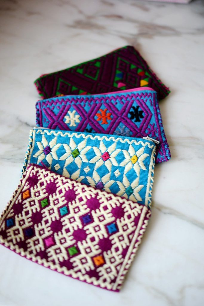 Handmade coin purses from Chiapas are perfect for keeping pesos separated from other change