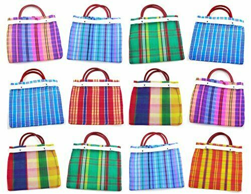 authentic colorful market bags are a great option for welcome bags
