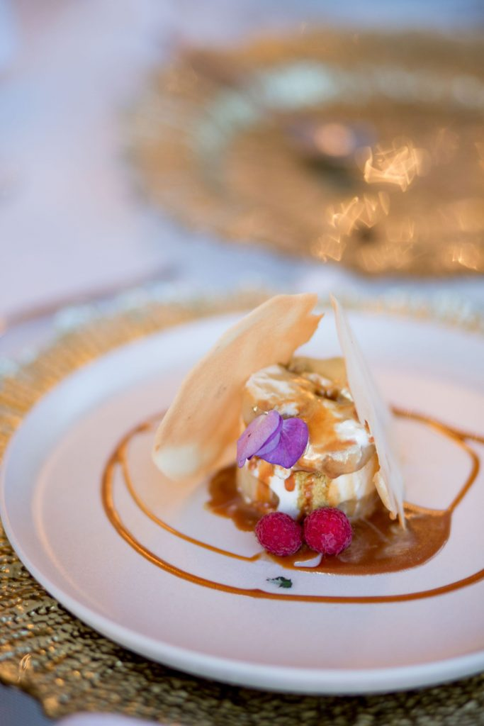 Incredible dessert prepared by a private caterer at this destination wedding celebration in Punta Mita Mexico